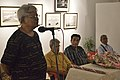 Susanta Banerjee Addresses - Group Exhibition Inauguration - PAD - Kolkata 2016-07-29 5254.JPG