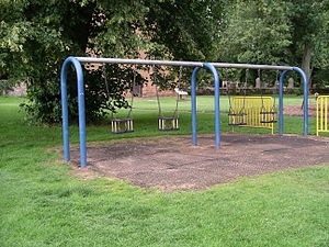 photo of swings for children in Kenilworth Fie...