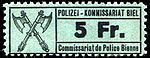 Switzerland Biel Bienne 1918 police revenue 5Fr - 35.jpg