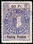 Switzerland Lucerne 1897 revenue 6 50Fr - 70 - E 1 97.jpg
