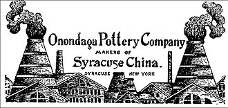 Geddes, New York - Syracuse China manufactured by Onondaga Pottery in Syracuse, New York - Syracuse Journal, September 12, 1910