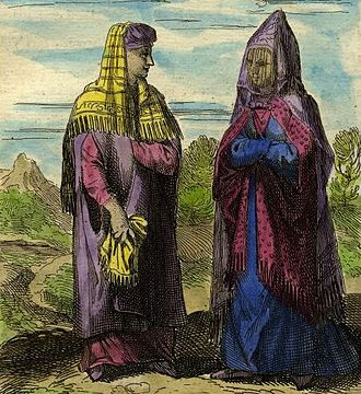 Syrian women, 1683 Syrian women, Description de L'Universe (Alain Manesson Mallet, 1683) (cropped).jpg