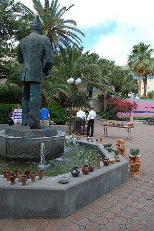 Texas A&M University–Corpus Christi - Pottery exhibit by Art students in the Dr. Hector P. Garcia Plaza