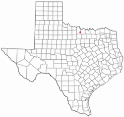 Location of Bellevue, Texas