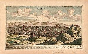 Timeline of Tabriz - Sketch of Tabriz in 1690.