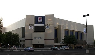 Taco Bell Arena - Southeast entrance in July 2009