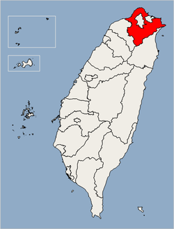 Location of Taipei