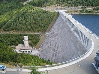 Lichte - Leibis-Lichte Dam, 102.5 m high
