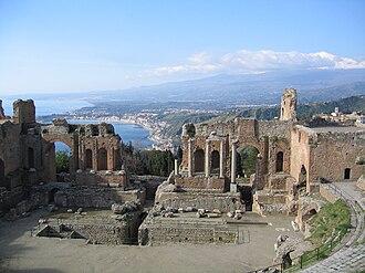 Ancient theatre of Taormina - The ancient theatre of Taormina