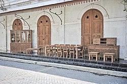Teak furniture in old city center of Semarang.jpg