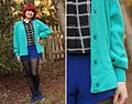 Teal Lacoste Vintage Cardigan with Cobalt Blue Shorts (16710662082).jpg