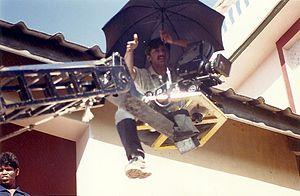 Teja (film director) - Teja in 1994, shooting for bollywood film Ghulam