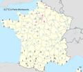 Températures maximales en France le 6 janvier 2009 (jour le plus froid de l'année 2009).png