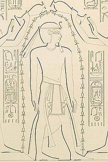 Karl Richard Lepsius tarafından çizilen Karnak'taki Khonsu Tapınağı'ndan Ramesses XI.