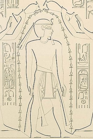 Ramesses XI - Ramesses XI from the Temple of Khonsu in Karnak, drawn by Karl Richard Lepsius