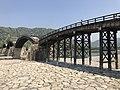 Tenshu of Iwakuni Castle and Kintaikyo Bridge 6.jpg