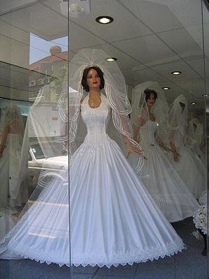 La Lagunilla Market - Window of a bridal shop in La Lagunilla