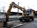 Terex Atlas 1404 rail-route, gare de Strasbourg.JPG