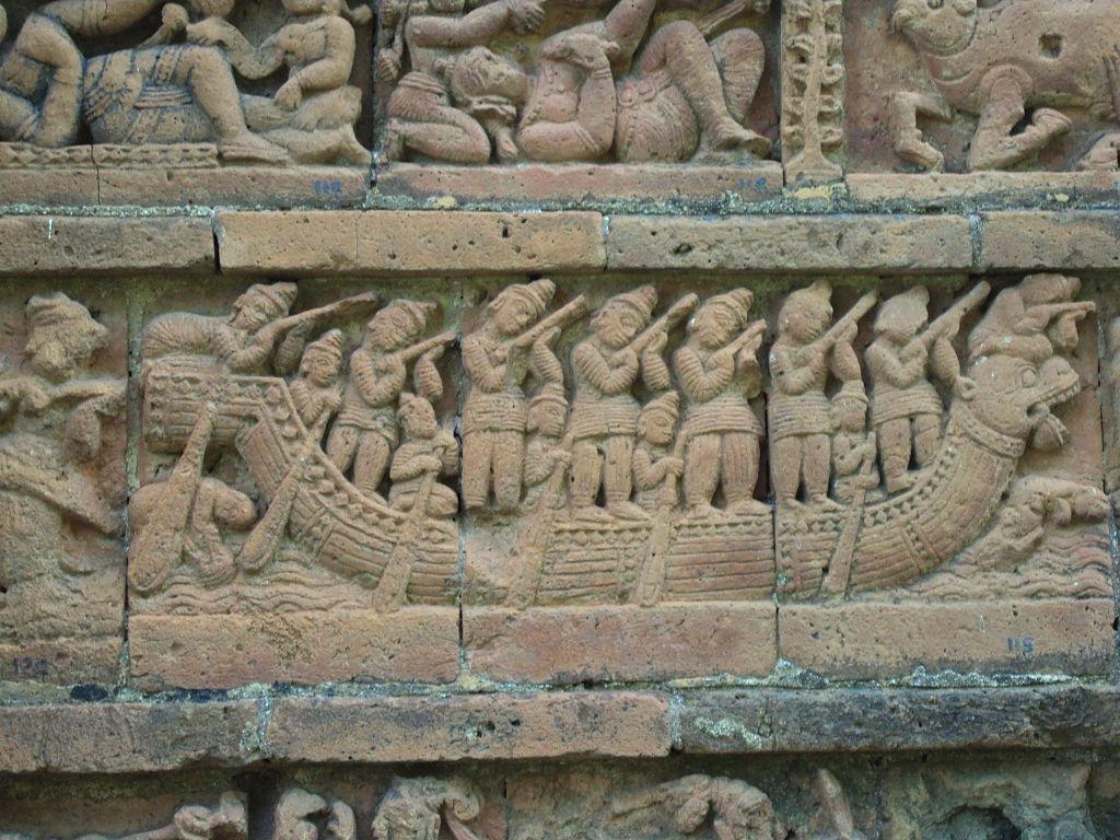 Terracotta work on Jor Bangla temple, Bishnupur 3.JPG