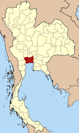 Bangkok Metropolitan Region - Map of Bangkok Metropolitan Area
