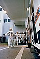 The Apollo 9 crew leaves the Kennedy Space Center's Manned Spacecraft Operations Building during the Apollo 9 prelaunch countdown.jpg