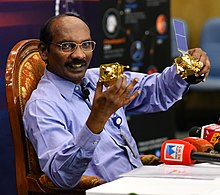 The Chairman, Indian Space Research Organisation (ISRO), Dr. K. Sivan addressing a press conference on the occasion of 'Lunar Orbit Insertion of Chandrayaan-2 Mission', in Bengaluru on August 20, 2019 (cropped).jpg
