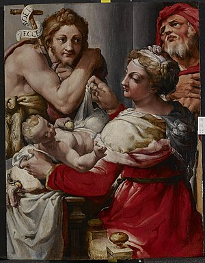 The Holy Family with Saint John the Baptist