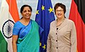 The Minister of State for Commerce & Industry (Independent Charge), Smt. Nirmala Sitharaman in a bilateral meeting with the Federal Minister for Economic Affairs and Energy, Germany, Ms. Brigitte Zypries, in Berlin, Germany.jpg