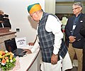 The Minister of State for Finance and Corporate Affairs, Shri Arjun Ram Meghwal launching the E-book on India-Nigeria Relations at the High Commission of India, in Abuja, Nigeria on September 26, 2016.jpg