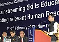 The Minister of State for Human Resource Development, Shri Jitin Prasada addressing the International Conference on Community Colleges, in New Delhi on February 06, 2013.jpg