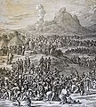 The Phillip Medhurst Picture Torah 397. The Israelites collect manna. Exodus cap 16 v 14. Luyken and son.jpg