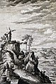 The Phillip Medhurst Picture Torah 595. Moses going to the top of Pisgah. Deuteronomy cap 3 v 27. Heuman.jpg