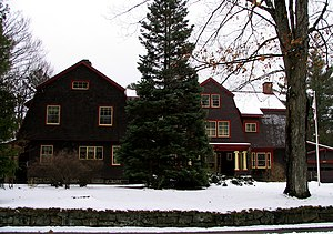 "Thomas Bailey Aldrich - 147 Park Avenue, Saranac Lake. Aldrich called it ""The Porcupine"" because it had so many good points. The ""Cure Porches"" are on the other side of the house. Presently, a bed and breakfast."