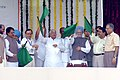 The Prime Minister, Dr. Manmohan Singh flagging off the suburban services of railways of Churchgate-Borivilli and Thane-Warsi, in Mumbai on October 05, 2006.jpg