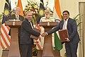 The Prime Minister, Shri Narendra Modi and the Prime Minister of Malaysia, Dato' Sri Mohd Najib Bin Tun Abdul Razak witnessing the exchange of agreements, at Hyderabad House, in New Delhi on April 01, 2017 (3).jpg
