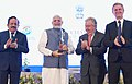 "The Prime Minister, Shri Narendra Modi being presented the ""Champions of The Earth"" award by the Secretary General of the United Nations, Mr. Antonio Guterres, at a function, in New Delhi.JPG"