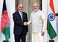 The Prime Minister, Shri Narendra Modi meeting the President of Afghanistan, Dr. Mohammad Ashraf Ghani, at Hyderabad House, in New Delhi on September 19, 2018.JPG