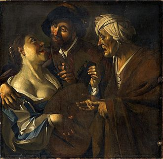 The Procuress (Dirck van Baburen) - The Courtauld Institute copy, believed to be a van Meegeren forgery