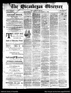 <i>The Queanbeyan Observer</i>