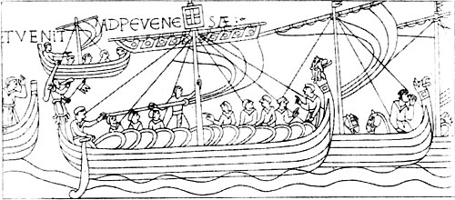 The Royal Navy, a History from the Earliest Times to Present Volume 1 - The Mora. (From the Bayeux Tapestry.).jpg