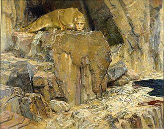 Georg von Rosen - Image: The Sphinx (1907), painting by Georg von Rosen (1843 1923)