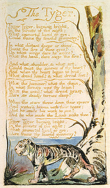 An analysis of two poems by william blake the lamb from the songs of innocence and the tyger from th
