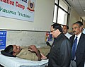 The Union Minister for Health & Family Welfare, Shri Jagat Prakash Nadda interacting with a donor, at CRPF Blood Donation Camp, organised at AIIMS Trauma Center, in New Delhi on November 14, 2014.jpg