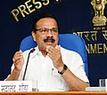 The Union Minister for Law & Justice, Shri D.V. Sadananda Gowda addressing a press conference to mark the completion of two years of the Government, in New Delhi on May 25, 2016.jpg