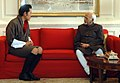 The Vice President, Shri Mohd. Hamid Ansari meeting the King of Bhutan, HM Jigme Khesar Namgyel Wangchuck, in New Delhi on December 22, 2009.jpg