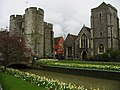 The West Gate towers, Holy Cross Church and River Stour - geograph.org.uk - 744440.jpg
