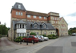 Tisbury, Wiltshire - The former Wiltshire Brewery, Tisbury, built in 1885.