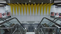 The decorative element of the staircase of Merdeka MRT station.jpg