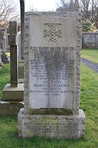 John Harry Miller - The grave of Very Rev John Harry Miller, Dean Cemetery, Edinburgh