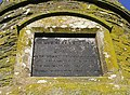 The inscription stone on the Colterscleuch Monument - geograph.org.uk - 577266.jpg